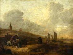 Egbert Lievensz van der Poel (1621-1664). Strandgezicht van Scheveningen met visafslag. (Coll. Glasgow Museums Resource Centre).