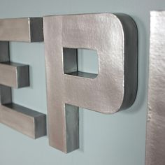 DIY faux zinc letters from Teal & Lime