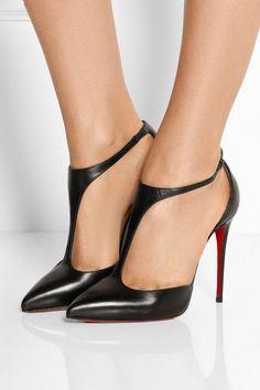 Christian Louboutin | J String 100 leather T-bar pumps | NET-A-PORTER.COM