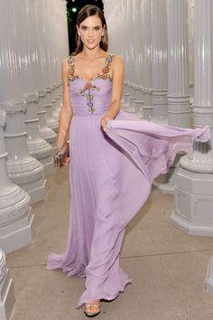 Alessandra Ambrosio in Gucci - HarpersBAZAAR.com