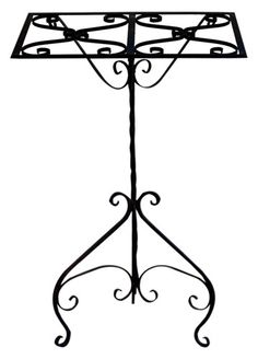 Ornamental Wrought Iron Music Stand from V