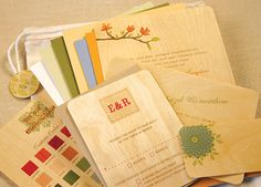 Night Owl Paper Goods. Wood wedding invitations, save the dates, place cards, menus, thank you cards, etc.