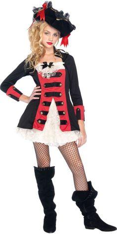 Pretty Pirate Costume for Teen Girls - Halloween City