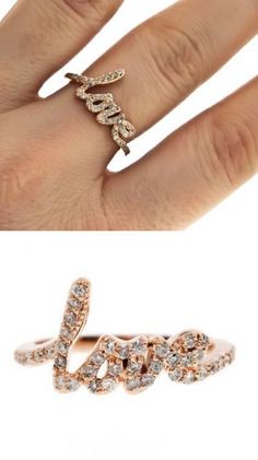 Love Pave Ring ♡