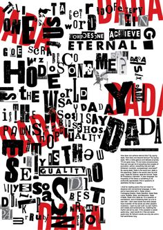 hugo ball dada work | chose to use DADA manifesto, by Hugo Ball 1916 . I liked dada ... Tristan Tzara, Typography Layout, Lettering Design, Dada Manifesto, Land Art, Dada Art Movement, Dada Artists, Pop Art, Art Brut