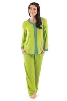 Comfortable Pajamas Sleepwear Set  Total Bliss in Eco Friendly Bamboo Viscose Jersey by TexereSilk; Softest PJs You Ever Had ... Guaranteed!Womens Comfortable Pajamas Sleepwear Set. Softest Pajamas You Ever Had ... Guaranteed! Style, comfort, and eco-responsibility come together in this charming PJ set in velvety soft bamboo fabric. Our best-selling bamboo pajamas are available on Amazon in various styles, designs, colors, and sizes. Choose the smaller size if unsure or in between sizes.