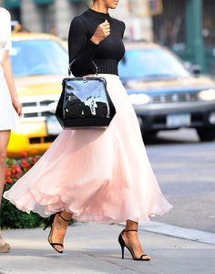 2015 Long Skirt, Fashion Street Style Skirt,Tulle Skirt,Charming Women Skirt,spring Autumn Skirt ,A-Line Skirt