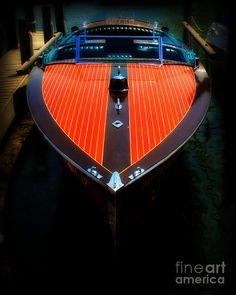 Wooden speed boat