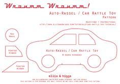 Auto-Rassel / Car Rattle Toy Pattern by ellis & higgs, via Flickr
