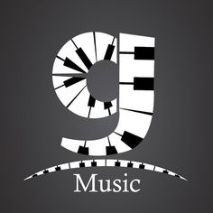 Abstract vector alphabet - g made from piano - alphabet set Letter G, Music Class, Musicals, Abstract, Poster, Monograms, Vector Art, Black And White, Lyrics