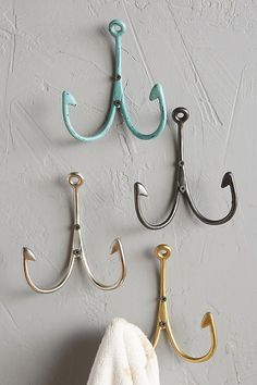 Fishing Hook bathroom details for any coastal home