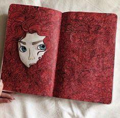Imagem de art, wreck this journal, and WTJ - abstrakte malerei - Kunstjournal Inspiration, Art Journal Inspiration, Art Inspo, Journal Ideas, Disney Kunst, Disney Art, Disney Magic, Art Drawings Sketches, Disney Drawings