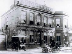 Wielrijschool J.J. Goettsch, Maliebaan 35, Utrecht (ca. 1903) tegenwoordig is dit Maliebaan 71