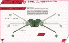 Cydonia 6 Ink Blueprints - Klingon B'Rel Class Bird of Prey Klingon Empire, Star Trek Klingon, Star Trek Starships, Star Trek Ships, Nerdy Things, Spaceships, Science Fiction, Sci Fi, Films