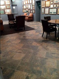 Beautiful job in a hotel with our #Ardesia porcelain tile collection. We love it!  #ceramics #tile #interiordesign