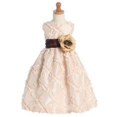 Cute Taffeta Ribbon Affordable Flower Girl Dresses for Weddings hifgcy10