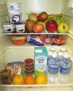 Keep your fridge well stocked for when you're running late to class! #college