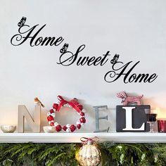 Home sweet home sisustustarra 8.00 € Sisustustarra jossa teksti Home Sweet Home. Ison kirjaimen korkeus n. 9cm ilman perhosta, pienen kirjaimen korkeus n. 4cm. Helppo kiinnittää. Materiaali: PVC tarra. Muista verkkokaupan tuotteista poiketen, tämä tuote ei ole valmistettu Suomessa http://www.salonsydan.fi/tuote/home-sweet-home-sisustustarra/