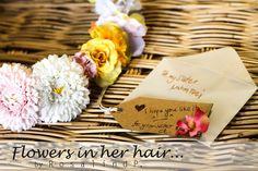 Flowers in her hair...(◡‿◡❀) #2   by me! ❤❃❂❁❀✽✼✻  #flowers #crown