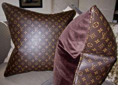 Louis Vuitton Pillows Available through Empress of The Eye Pillow Collections