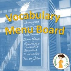 Vocabulary Menu - This printable can be used as a teaching tool in class for vocabulary, or given as homework. Students often struggle with ways to learn vocabulary, and it is such a part of our classes, and of the common core. Students love to have som