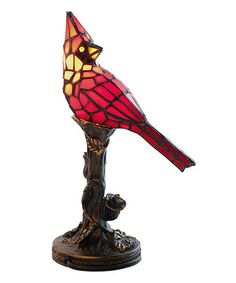 Look what I found on #zulily! Cardinal Stained Glass Accent Table Lamp #zulilyfinds