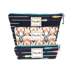 Shop our Navy Arrows and Antelope Trio on www.vrhandbags.com for $60.00