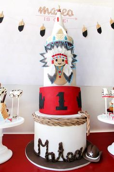 Cowboys and Indians Cake - by La Petite Pops