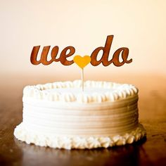 How cute!  Cake Topper Options for Modern Brides
