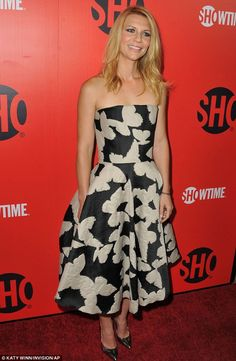 I like how this fabric could be as beautiful on throw pillows as on this Lanvin dress. Claire Danes.