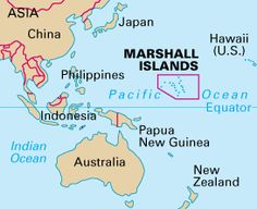 Location of the Marshall Islands #HCFpost