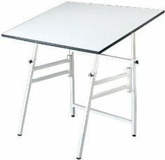 Alvin x Professional Drafting Table, Base Color: White or Black Model XI