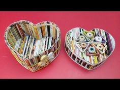How to make a jewellery box using newspaper & Cardboard DIY Newspaper Craft Idea LifeStyle Designs - YouTube