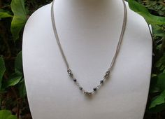 Snowflake Obsidian Necklace by RingedDesigns on Etsy, $22.98