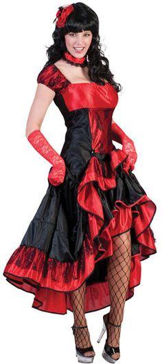 Sexy Madam Crystal Saloon Girl Costume