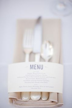 A nice idea. This way you don't have to put the menu on your invitation, which I think is tacky--in fact, send menu with wedding invitations so that people can choose what they want to eat beforehand and list dietary restrictions.