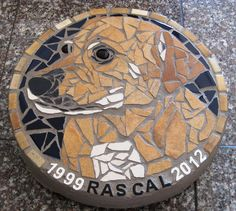 Custom Memorial Stepping Stone - I would love to have one of Amber for the backyard!