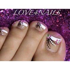 French Manicure Toe Nail Art Design Nail Art Gallery