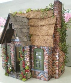 Cinderella Moments: Frog's Cottage dollhouse ~ so cute!  I remember this story from my childhood!