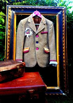 Re-designed up-cycled tweed jacket by . . . www.thevintagetwistcompany.co.uk https://www.facebook.com/photo.php?fbid=501044363306258=pb.186676034743094.-2207520000.1377456714.=3