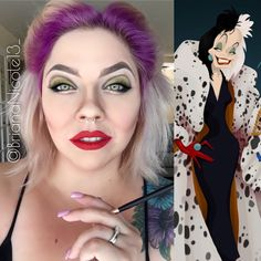 Cruella devil inspired makeup. Disney villain makeup