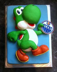 Homemade cake of Yoshi Bad Ass!!!! I wish I knew how to do this :)