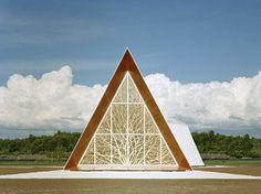 http://architecture-article.com #architecture #modern #church #triangle #silhouette #ecumenical #chapel #AOA