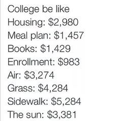 College is nothing; get to grad school. I'm literally never getting out of debt #imindebtuptomyeyeballs