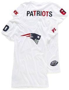 ShopStyle: Victoria's Secret Pink® New England Patriots Crewneck Tee