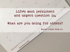 What are you doing for others? #MLK