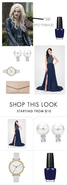 """""""The ball"""" by i-am-still-with-her ❤ liked on Polyvore featuring Terani, Skagen, OPI and Dune"""