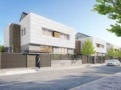 Architectural Rendering | Exterior architectural rendering semi-detached houses Las Carcavas
