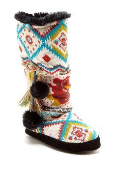 Helga Pom & Tassel Slipper Boot - Wonder Lust by MUK LUKS on @HauteLook
