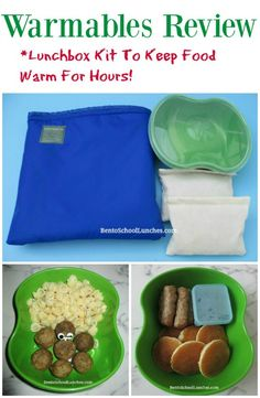 Warmables Lunchbox Kit Review. Keeps food warm for 4-6 hours. BentoSchoolLunches.com